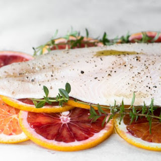 Fish with Blood Orange and Thyme in Parchment