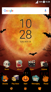 Halloween ND Xperia Theme - náhled