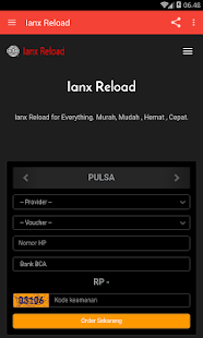 Pulsa Ianx Reload- screenshot thumbnail