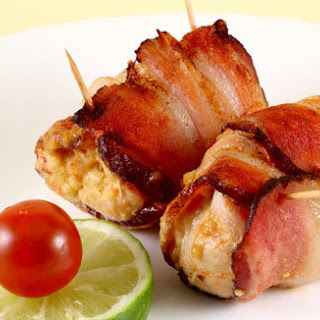 Bacon-Wrapped Chicken Bites.