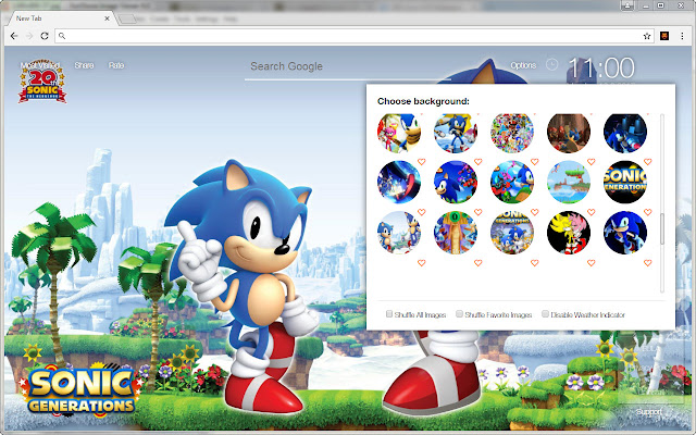 Sonic Wallpaper Hedgehog HD New Tab