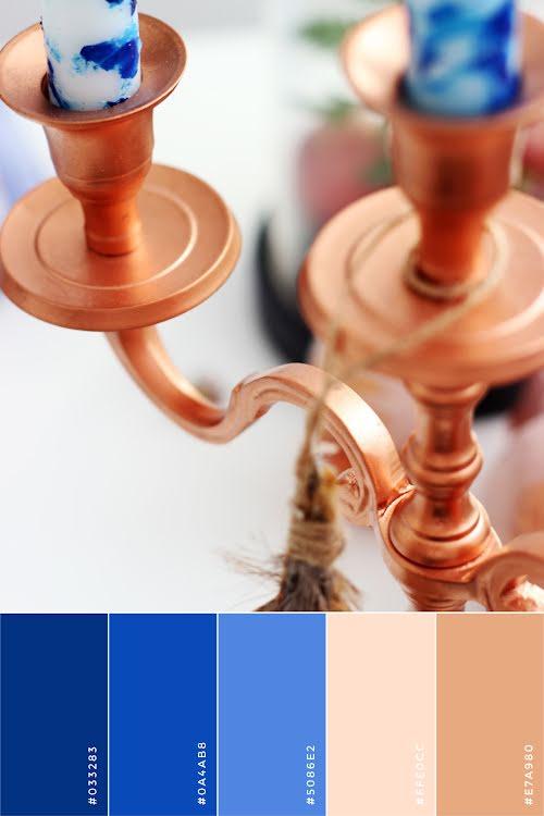 Menorah Color Palette - Hanukkah Template