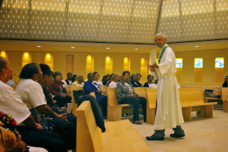 Photo: Deacon Dr. Harold Vincent's Saturday homily challenged his listeners banish worry with trust.