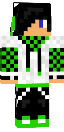Music Boy Green Black And White Nova Skin