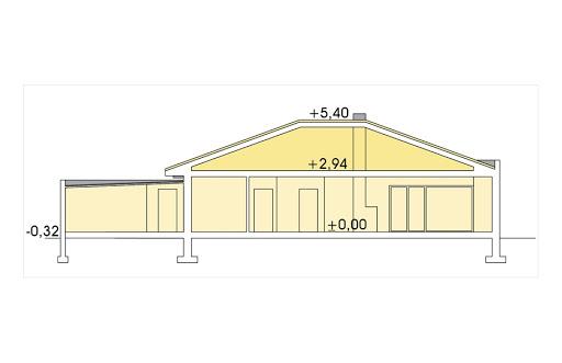 Alabama 3 wersja D z podwójnym garażem - Przekrój