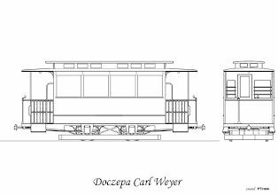 Photo: W 1905 roku otrzymano 6 doczepek z fabryki Carl Weyer. Od wozów silnikowych różniły się oknami, były one prostokątne zamiast zakończonych łukowo na górze, były także krótsze od wagonów silnikowych. Łącznie w latach 1904-1911 dostarczono 37 wagonów silnikowych oraz 17 doczep. W latach 1914-1917 w warsztatach zmontowano jeszcze 14 doczep tego typu.