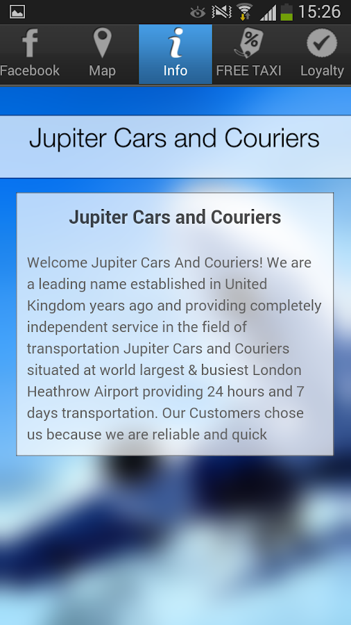 Jupiter Cars and Couriers- screenshot