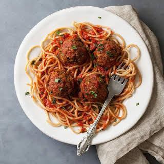 Saucy Vegetarian Meatballs.