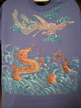 Photo: 107 Chinese dragon and phoenix. Color: light blue. $69.00