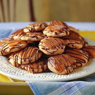 Peanut Butter-Toffee Turtle Cookies.