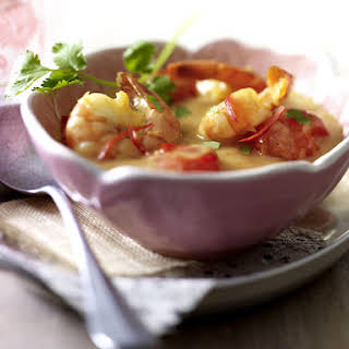 Thai Yellow Curry with Shrimp.