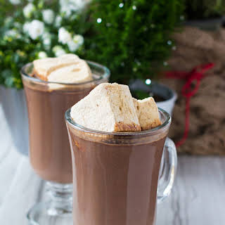 Gingerbread Hot Chocolate with Spiced Rum.