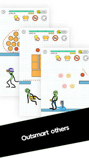 Screenshot for Happy Line Saga - Stop! Alien in United States Play Store