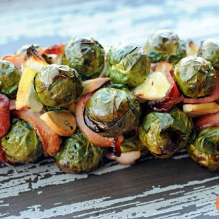 Grilled Brussels Sprouts Bacon Weave.