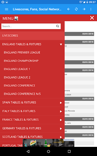 My Livescore Fans - Livescores, Fixtures, Results 2.0 screenshots 1