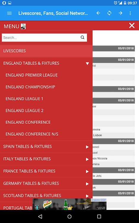 My Livescore Fans Livescores Fixtures Results Android