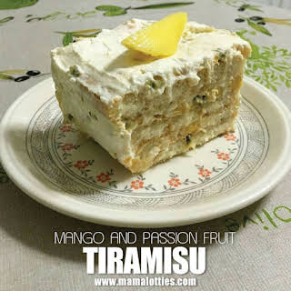 Mango and Passion Fruit Tiramisu.