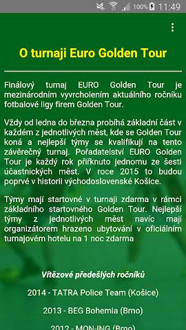 android Golden Tour Screenshot 3