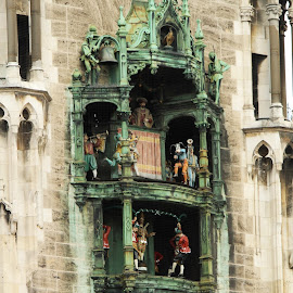 by Adriana Popescu - Buildings & Architecture Architectural Detail ( dancing, munich, queen, statues, castle, king )