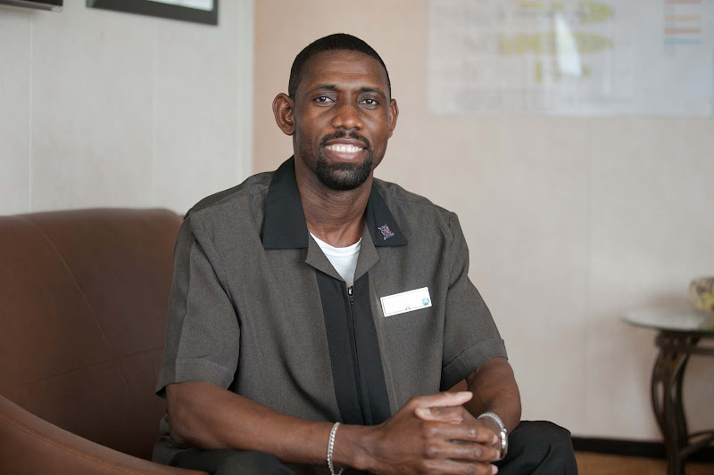 St. Elmore Moore, a stateroom attendant on Celebrity Infinity.