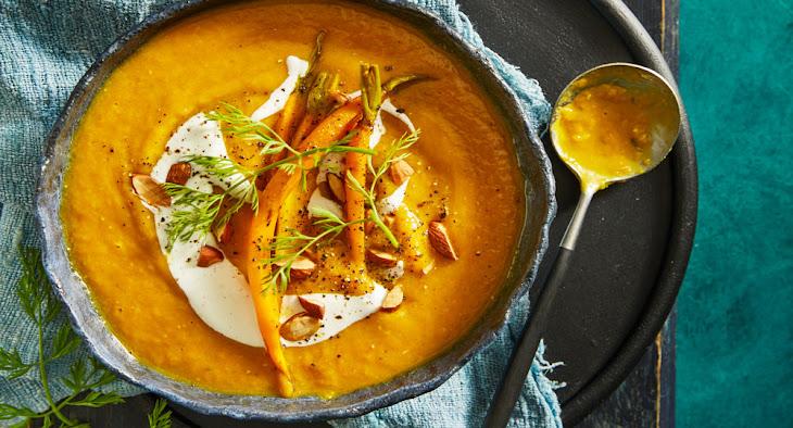 Pumpkin, Carrot, Lentil and Ginger Soup Recipe
