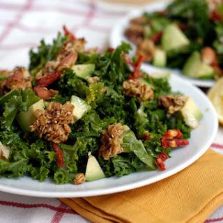 Kale Salad With Savory Granola And Avocado