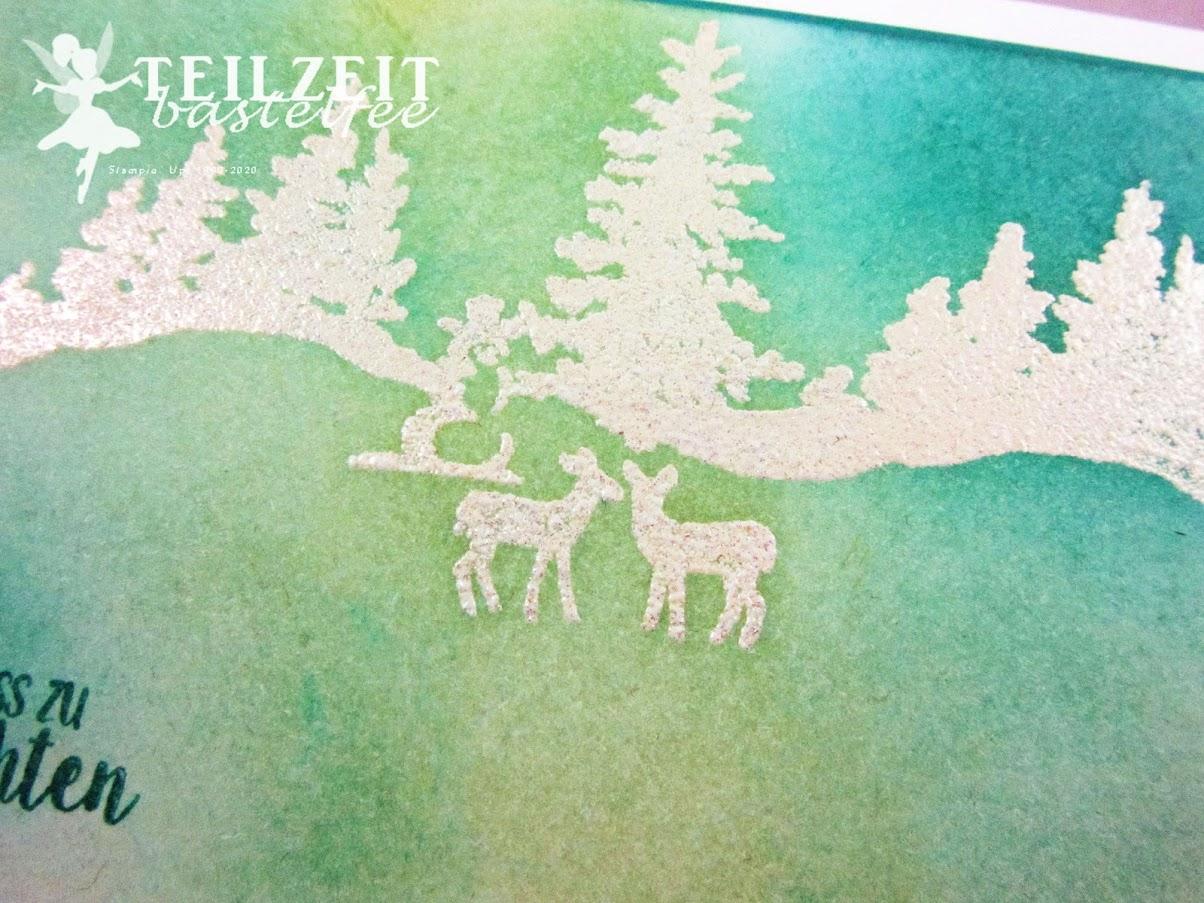 Stampin' Up! - Inkspire_me, Christmas Special, Weihnachten, Snow Front, Winterwald, Bäume und Blumen,