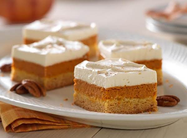 Maple-pumpkin Pie Bars Recipe
