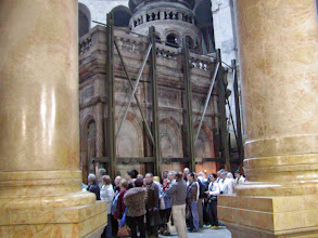 Photo: More tourists wait to enter the tomb area.