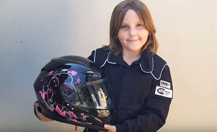 Anita Board was trying to qualify for a junior racing license in her purple dragster
