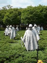 Photo: Korean War Memorial.