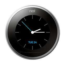Nest thermostat farsight analog clock
