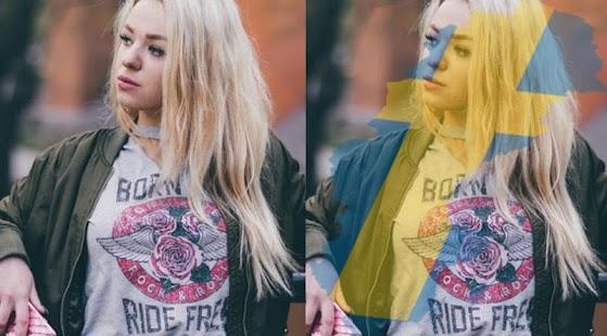 Sweden flag On face maker : photo editor - náhled