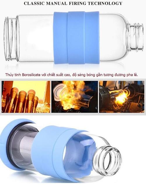 Bình đựng nước thủy tinh 450 ml