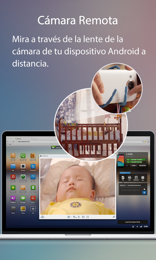 AirDroid - Android on Computer: captura de pantalla