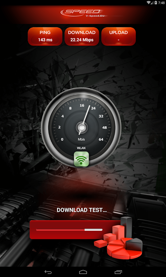 V-SPEED Speed Test- screenshot