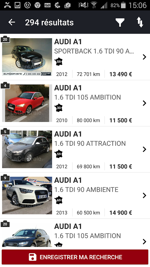 la centrale voiture occasion android apps on google play. Black Bedroom Furniture Sets. Home Design Ideas