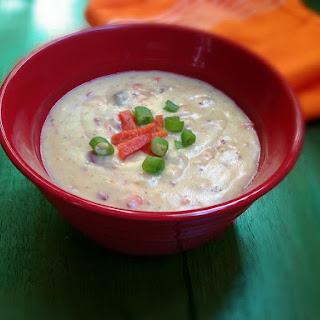 Roasted Garlic and Smoked Salmon Potato Soup.