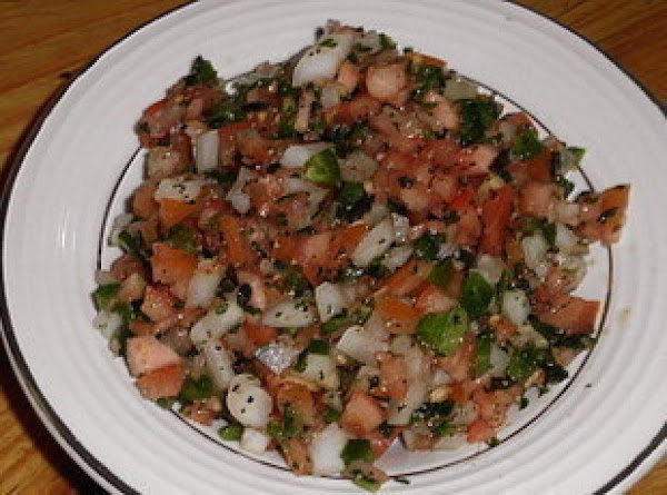I made my pico de gallo, only left out the jalapenos since I'm stuffing...