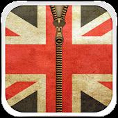 UK Flag Zipper Lock Screen
