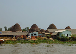 Photo: 800,000 bricks can be put into each of these kilns.  The husks of rice are used for fuel.