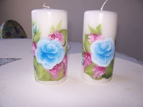 """Photo: 1004 - 2, 6"""" Candle set. If you want to buy one of them which is $15.50 and the set is $29.00"""