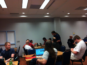 Photo: Last night of the BSDCan 2012 hacking lounge.