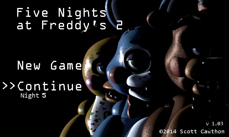 Five Nights at Freddy's 2 Demo Android App Screenshot
