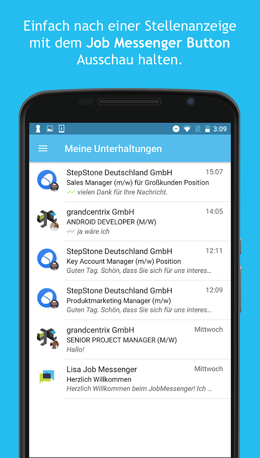 Job Messenger- screenshot