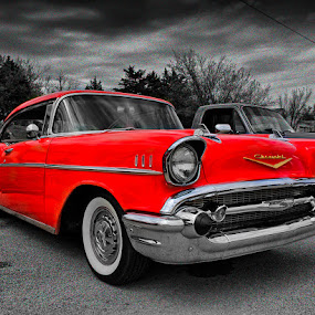 RED '57 by Ray Ebersole - Transportation Automobiles ( hdr, outdoor, seminole, ok, car show )