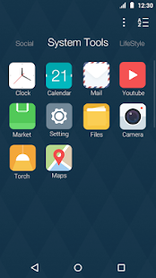 Flat Style: DU Launcher Theme- screenshot thumbnail