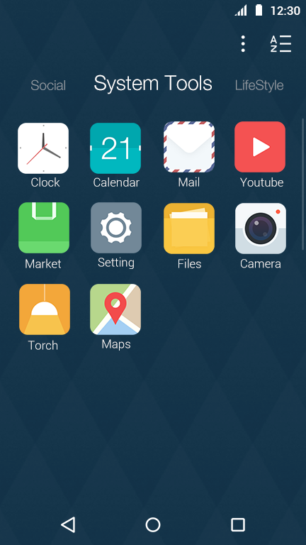 Flat Style: DU Launcher Theme- screenshot