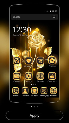Gold Rose theme business gold - screenshot
