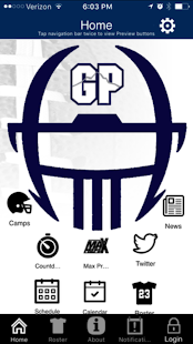Glacier Peak Football app- screenshot thumbnail
